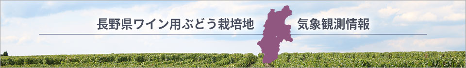長野県ワイン用ぶどう栽培地気象観測情報